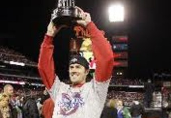 Among Cole Hamels' postseason work is the 2008 World Series MVP award