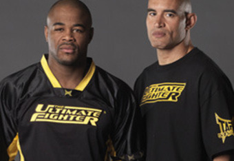 Rashad with Coach Van Arsdale during The Ultimate Fighter 10 Reality show.