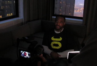 Even in his suite, Rashad can't hide forever. UFC.com pays him a visit just before a well earned nap