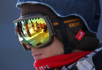 ASPEN, CO - JANUARY 29:  Ryo Aono of Japan looks on as he prepares to take a run during practice for the men's snowboard superpipe eliminations during Winter X Games 2012 at Buttermilk Mountain on January 29, 2012 in Aspen, Colorado. Aono qualified third