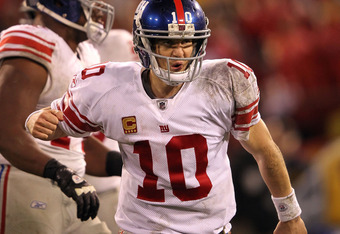 "Eli won't be as excited when the ""DD"" patch is placed above his captain's patch."