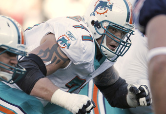 Jake Long, the first overall pick in the 2008 NFL Draft, has gone to the Pro Bowl every year in his career so far. He would provide big help for Peyton Manning in allowing him plenty of time to throw the football.