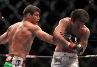 Bisping getting the better of Sonnen