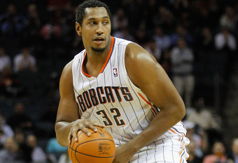 CHARLOTTE, NC - JANUARY 10:  Boris Diaw #32 of the Charlotte Bobcats against the Houston Rockets during their game at Time Warner Cable Arena on January 10, 2012 in Charlotte, North Carolina.   NOTE TO USER: User expressly acknowledges and agrees that, by