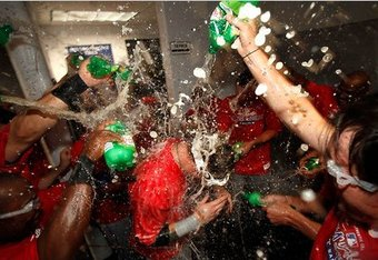 His Ranger teammates have substituted ginger ale for champagne in an effort to support his sobriety.