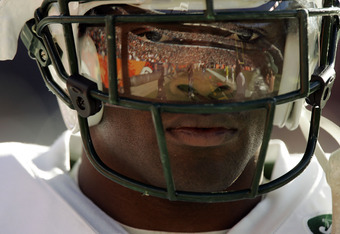 DENVER - NOVEMBER 20:  Running back Curtis Martin #28 of the New York Jets paces the sideline at the start of a game against the Denver Broncos on November 20, 2005 at Invesco Field at Mile High in Denver, Colorado.  The Broncos won 27-0.  (Photo by Brian