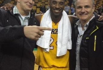 Kobe Bryant Shows Rob Gronkowski Highest Level Of Respect