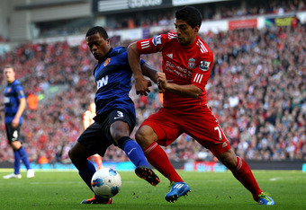 All eyes will be on Evra and Suarez