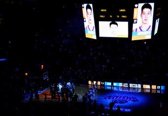 NEW YORK, NY - FEBRUARY 10:  Jeremy Lin #17 of the New York Knicks takes the court during player introductions against the Los Angeles Lakers at Madison Square Garden on February 10, 2012 in New York City.  NOTE TO USER: User expressly acknowledges and ag