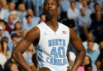 CHAPEL HILL, NC - JANUARY 29:  Harrison Barnes #40 of the North Carolina Tar Heels during their game at the Dean Smith Center on January 29, 2012 in Chapel Hill, North Carolina.  (Photo by Streeter Lecka/Getty Images)