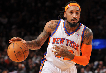 NEW YORK, NY - DECEMBER 25: Renaldo Balkman #44 of the New York Knicks  controls the ball during the second half against the Boston Celtics at Madison Square Garden on December 25, 2011 in New York City. NOTE TO USER: User expressly acknowledges and agree