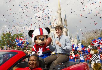Super Bowl XLVI MVP Eli Manning Visits Disney World