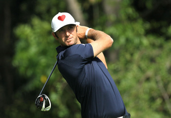 PACIFIC PALISADES, CA - FEBRUARY 19:  Dustin Johnson hits his tee shot on the 12th hole during the final round of the Northern Trust Open at Riviera Country Club on February 19, 2012 in Pacific Palisades, California.  (Photo by Stephen Dunn/Getty Images)