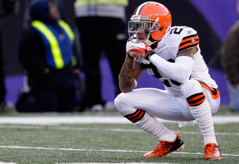 BALTIMORE, MD - DECEMBER 24:  Joe Haden #23 of the Cleveland Browns reacts on the field during the closing moments of the Browns 2014 loss to the Baltimore Ravens at M&T Bank Stadium on December 24, 2011 in Baltimore, Maryland.  (Photo by Rob Carr/Getty I