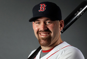 FORT MYERS, FL - FEBRUARY 26:  Kevin Youkilis #20 of the Boston Red Sox poses for a portrait on February 26, 2012 at jetBlue Park in Fort Myers, Florida.  (Photo by Elsa/Getty Images)
