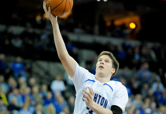 OMAHA, NE - FEBRUARY 18: Doug McDermott #3 of the Creighton Bluejays lays the ball up against the  Long Beach State 49ers during their game at CenturyLink Center February 18, 2012 in Omaha, Nebraska. Creighton beat Long Beach State on a last second shot 8