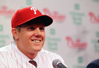 PHILADELPHIA, PA - NOVEMBER 14:  Jonathan Papelbon of the Philadelphia Phillies smiles as he discusses his four-year, $50,000,058 contract, at Citizens Bank Park on November 14, 2011 in Philadelphia, Pennsylvania.  (Photo by Len Redkoles/Getty Images)
