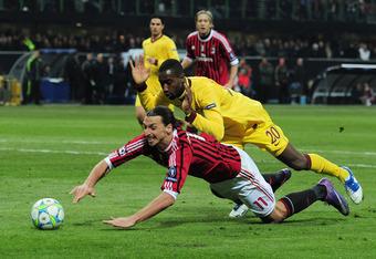 Johan Djourou struggled to cope with Zlatan Ibrahimovic and AC Milan