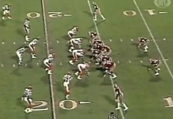 Walsh's offense often featured split-backs out of 21 personnel.