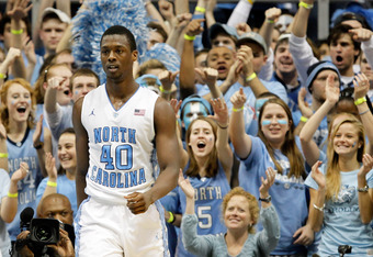 CHAPEL HILL, NC - FEBRUARY 08:  Harrison Barnes #40 of the North Carolina Tar Heels against the Duke Blue Devils during their game at the Dean Smith Center on February 8, 2012 in Chapel Hill, North Carolina.  (Photo by Streeter Lecka/Getty Images)