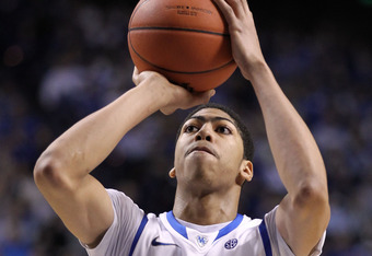 LEXINGTON, KY - JANUARY 21:  Anthony Davis #23 of the Kentucky Wildcats shoots the ball during the game against the Alabama Crimson Tide at Rupp Arena on January 21, 2012 in Lexington, Kentucky.  (Photo by Andy Lyons/Getty Images)