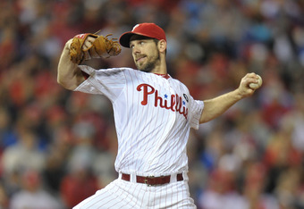 PHILADELPHIA, PA - OCTOBER 02: Cliff Lee #33 of the Philadelphia Phillies pitches during Game Two of the National League Division Series against the St. Louis Cardinals at Citizens Bank Park on October 2, 2011 in Philadelphia, Pennsylvania. The Cardinals