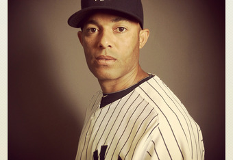 TAMPA, FL - FEBRUARY 27: (EDITOR'S NOTE: Image was shot with an iPhone using Instagram) Mariano Rivera #42 of the New York Yankees poses for a portrait during the New York Yankees Photo Day on February 27, 2012 in Tampa, Florida.  (Photo by Nick Laham/Get
