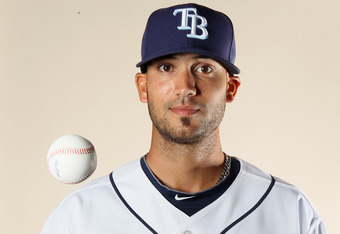 FT. MYERS, FL - FEBRUARY 22:  Matt Bush #44 of the Tampa Bay Rays poses for a portrait during the Tampa Bay Rays Photo Day on February 22, 2011 at the Charlotte Sports Complex in Port Charlotte, Florida.  (Photo by Elsa/Getty Images)