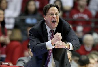 Indiana head coach Tom Crean