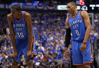 Dynamic duo Kevin Durant and Russell Westbrook