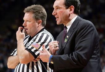 Karl Hess with Duke's Coach K