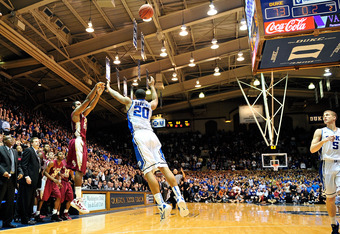 Michael Snaer sinks Duke with a buzzer-beating three-pointer.