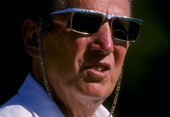 25 Aug 1995:  Owner and president Al Davis of the Oakland Raiders looks on from the sideline as he watches the Raiders 32-27 pre season victory over the New England Patriots at Stanford Stadium in Palo Alto, California.  Mandatory Credit: Otto Greule Jr.