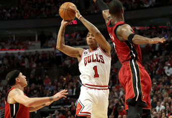Derrick Rose was smothered by the Heat's defense in the playoffs last season.