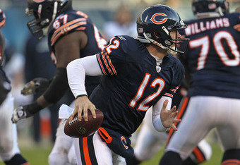 Hanie struggled down the stretch after Jay Cutler went out with injury.