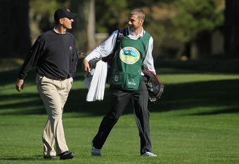 Jim Harbaugh and Alex Smith at Pebble Beach.
