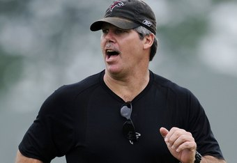 FLOWERY BRANCH, GA - MAY 9: Defensive coordinator Brian VanGorder of the Atlanta Falcons during minicamp at the Falcons Complex on May 9, 2009 in Flowery Branch, Georgia. (Paul Abell/Getty Images)