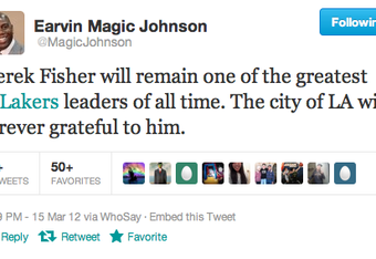 High praise from one of the greatest Lakers ever.