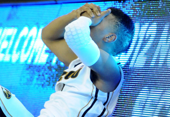 OMAHA, NE - MARCH 16:  Phil Pressey #1 of the Missouri Tigers reacts after he missed a potential game-winning 3-point shot at the buzzer against the Norfolk State Spartans during the second round of the 2012 NCAA Men's Basketball Tournament at CenturyLink