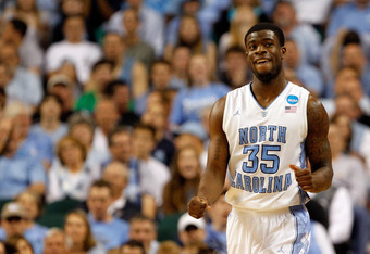 GREENSBORO, NC - MARCH 18:  Reggie Bullock #35 of the North Carolina Tar Heels reacts after getting a foul called in the second half against the Creighton Bluejays during the third round of the 2012 NCAA Men's Basketball Tournament at Greensboro Coliseum