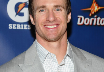 INDIANAPOLIS, IN - FEBRUARY 03:  Drew Brees of The New Orleans Saints attends Pepsi Pre-Super Bowl Party at Indiana State Museum on February 3, 2012 in Indianapolis, Indiana.  (Photo by Mike Coppola/Getty Images for Pepsi)