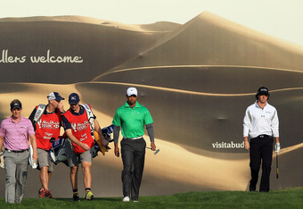 Tiger, Luke and Rory were grouped together in Abu Dhabi