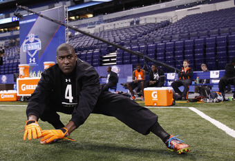 Justin Blackmon could find himself stretching in St. Louis this season.