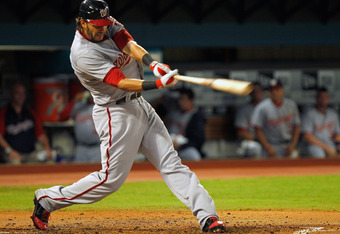 MIAMI GARDENS, FL - SEPTEMBER 26:  Michael Morse #38 of the Washington Nationals hits during a game against the Florida Marlins at Sun Life Stadium on September 26, 2011 in Miami Gardens, Florida.  (Photo by Mike Ehrmann/Getty Images)