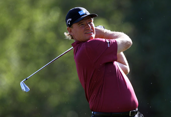 PALM HARBOR, FL - MARCH 18:  Ernie Els of South Africa plays a shot on the 17th hole during the final round of the Transitions Championship at the Innisbrook Resort and Golf Club  on March 18, 2012 in Palm Harbor, Florida.  (Photo by Sam Greenwood/Getty I