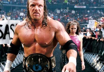 Triple H headlined one WrestleMania during the Attitude Era in forgettable fasion.  His relative inferiority during that period could be motivation.