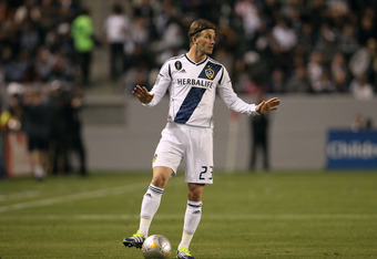 CARSON, CA - MARCH 10:  David Beckham #23 of the Los Angeles Galaxy looks on prior to a direct free kick during the MLS match against Real Salt Lake at The Home Depot Center on March 10, 2012 in Carson, California. Real Salt Lake defeated the Galaxy 3-1.