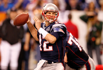 INDIANAPOLIS, IN - FEBRUARY 05:  Tom Brady #12 of the New England Patriots throws a pass against the New York Giants during Super Bowl XLVI at Lucas Oil Stadium on February 5, 2012 in Indianapolis, Indiana. The Giants won 21-17.  (Photo by Rob Carr/Getty