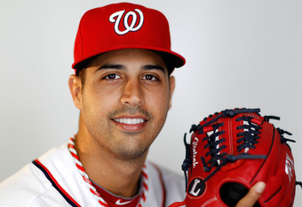 VIERA, FL - FEBRUARY 28:  Gio Gonzalez #47 of the Washington Nationals poses during photo day at Space Coast Stadium on February 28, 2012 in Viera, Florida.  (Photo by Mike Ehrmann/Getty Images)