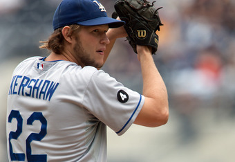 SAN DIEGO, CA - SEPTEMBER 25: Starting pitcher Clayton Kershaw #22 of the Los Angeles Dodgers throws the ball during the 1st inning of the game against the San Diego Padres at Petco Park on September 25, 2011 in San Diego, California. (Photo by Kent C. Ho